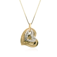 Two Tone Gold Heart Pendant