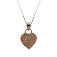 Inoa Heart Initial Pink Gold Pendant