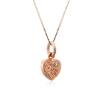 Heart Pink Gold Charm Pendant