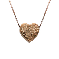 Kelani Heart Silver with Pink Gold Finish Pendant